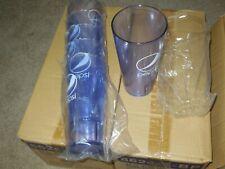 New (6) Pepsi Cola Restaurant Blue Globe Plastic Tumblers Cups 24 oz. Get