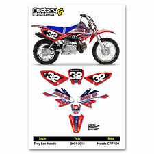2004-2012 HONDA CRF 100 TLD Dirt Bike Graphics Kit & Numbers Motocross Enjoy MFG