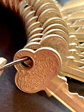 VTG Antique LOT 39 Gold Keys P&F Corbin New Britain CT Hardware Asylum Reclaimed