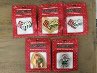 Vintage Hallmark Christmas Magnets Lot Of 5 Candy Gingerbread Girl