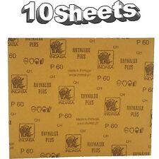 Indasa Rhynalox Plusline Production Paper P60 grit Sand Paper x 10 Sheets