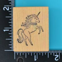 8.99PSX Prancing Unicorn D-655 Small Wood Mounted Rubber Stamp
