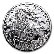 2017 Landmarks Of Britain Series - Big Ben 1 oz Silver BU Round Bullion Coin