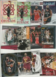 JAMES HARDEN LOT (110) ALL DIFFERENT W/ 59 INSERTS CRUSADE CAMO PRIZM SILVER