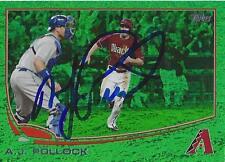 A.J. Pollock Arizona Diamondbacks 2013 Topps Green Emerald Signed Card