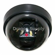 New Fake Dome Security Camera w/Red Flashing Light Imitation Surveillance