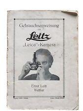 """""""Leica"""" - Kamera  - Anleitung von August 1929"""