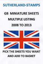 2008 - 2013 MINT MINI / MINIATURE SHEETS MULTIPLE LISTING + CHEAP MINI SHEETS