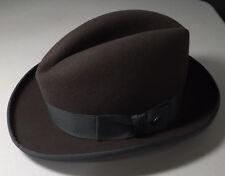 Stetson 100% wool 57 7 1/8 Homburg 03 Caribou Gray John B Stetson Fedora Hat NEW