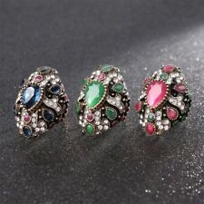 Fine Unique Fashion Party Jewelry Cocktail Finger Ring Crystal For Women Bride