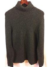 GAP Men's M Turtleneck Sweater 100% Lambswool Knit Charcoal