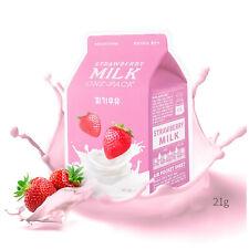 10pcs Apieu Korean Facial Sheet Mask Strawberry Milk Soothing Moisturizing Pack