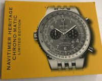 Breitling NAVITIMER HERITAGE CHRONO-MATIC Watch Booklet Guide Manual Papers Book