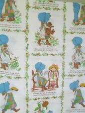 Vintage American Greeting Holly Hobby double flat sheet