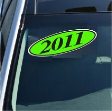 Car Dealer Window Oval Model Year Stickers 4 DIGIT Black and Chartreuse