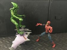 Marvel action figures ( battle ravaged - spider man and green goblin set )