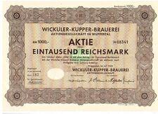 Wicküler Küpper Brauerei  AG 1943  Wuppertal