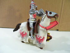 MEDIEVAL WARRIORS OF THE WORLD KNIGHT & HORSE PVC FIGURES, BLUE BOX 2004