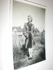Old Photo Lytham St Annes off duty hotel maid 1947