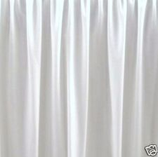"21 ""  FULL WHITE BEDSKIRT OR DUST RUFFLE  SPLIT CORNERS"