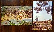 CAMELS Windmill LAS PALMAS Caldera de Bandama GRAN CANARIA SPAIN 2 Postcards