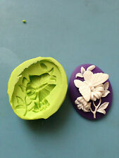 Butterfly Cameo silicone mould - cake decorating, sugarpaste, fimo