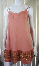 Fossil 100% Fine Quality Pink Spaghetti Straps Top Blouse Size S small Pink 053