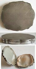 Miroir POUDRIER boite en argent massif silver box