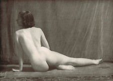 1930's Vintage Alfred Cheney Johnston Female Nude Art Deco Photo Print (f)