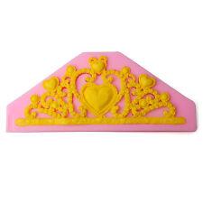 Lace Princess Crown Silicone Fondant Mold Cake Decorating Chocolate Baking Mold