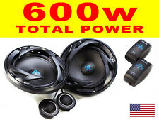 "Autotek 6.5"" 17cm 2 way Component car audio door shelf speakers pair Total 600W"