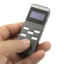 8GB 650hr Digital Audio Voice Recorder MP3 Player U Disk w 6 Mic Time Sync Clock
