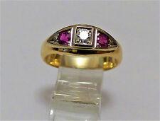 Brillant Rubin Ring  mit 0,63ct  in 750 GG/WG 8,1g ; RG 63 Neupreis: ca.€ 1900
