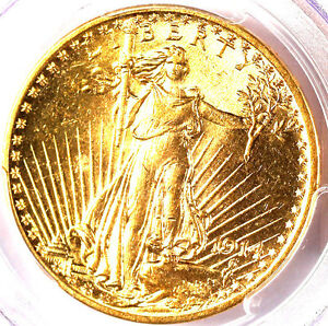 1914 $20 MS63 PCGS-ONLY 556 IN HIGHER GRADE -ST. GAUDENS