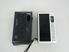 Vintage Sony TR-3500 AM Transistor Radio & Caser-Made In Japan-Works