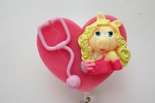 NURSE MISS PIGGY RN MEDICAL DOCTOR EMT NURSE VET ID BADGE HOLDER