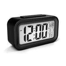 Digital Alarm Wecker Tischuhr LCD Temperaturanzeige und Kalender 5Farbens DE