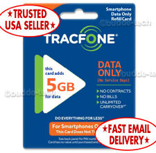 TracFone 5GB Data Only Card - QUICK EMAIL DELIVERY - PIN # Minutes 4 Smartphones