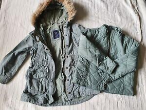 Girls XS Regular GAP KIDS Parka Coat & Removable Jacket