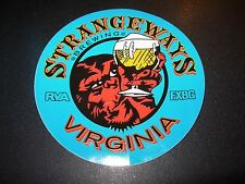 STRANGEWAYS BREWING Richmond Virginia blue STICKER decal craft beer brewery