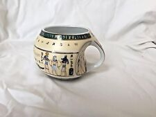 Egyptian Pharaoh Porcelain Mug Collectible King Tut Horus Green Gold Black #4020