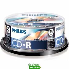 25 x Philips CD-R Blank Recordable Discs 80 Mins 700MB 52x Speed Spindle Pack