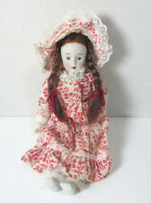 """Vintage Porcelain Painted on Face Doll c. Mid Century 8"""""""