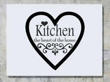 Kitchen The Heart Of The Home Wall Decal Art Sticker Picture