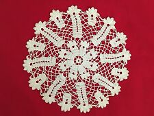 "White 10"" Round Crochet Doilie"
