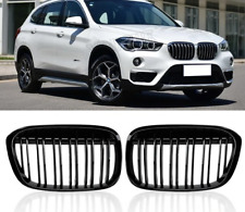 BMW X1 F48 gloss black front kidney grilles grille double twin spoke UK 2015-