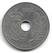 Danmark 25 Ore Coin - 1981 -  L@@K !!