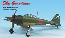 Zero A6M5 IJN 721st Naval Air Group Airplane Miniature Model Metal Die-Cast 1:72