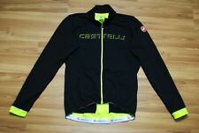 CASTELLI CYCLING JERSEY SHIRT LONGSLEEVE STOPPER BLACK GREEN SIZE MENS LARGE