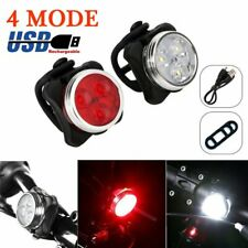 Bike Light Set, Super Bright USB RECHARGEABLE Bicycle Lights, Waterproof IPX4